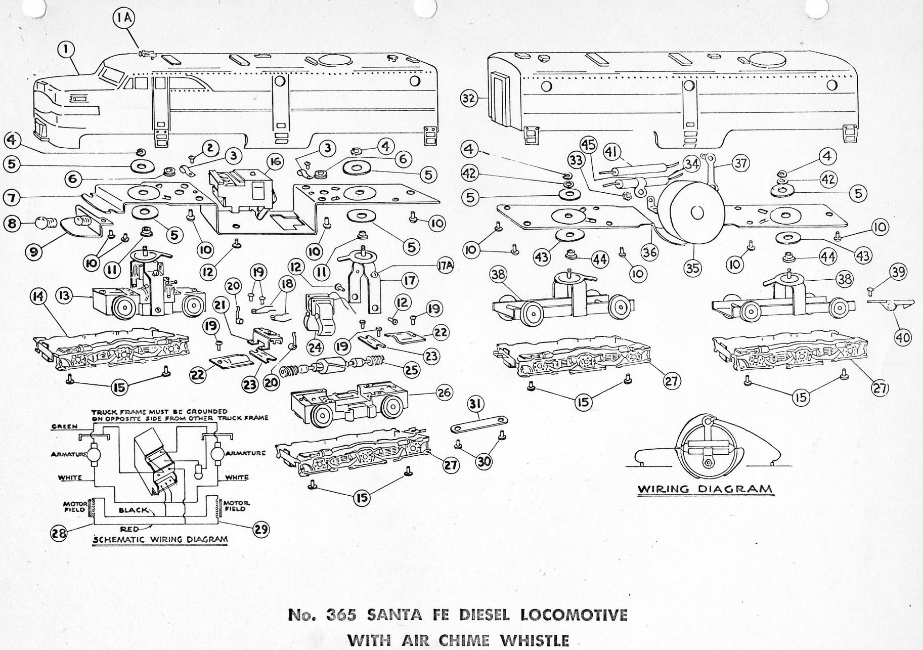 American Flyer Locomotive 365 Parts List Amp Diagram