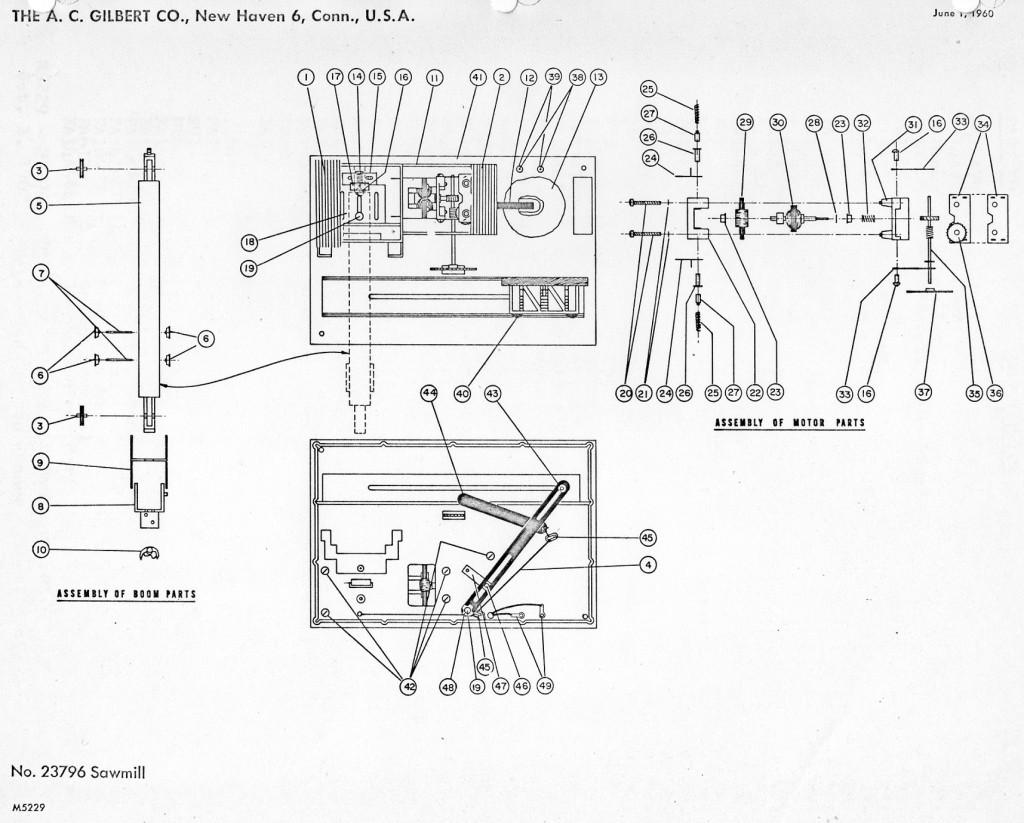 American Flyer Sawmill Parts List Amp Diagram