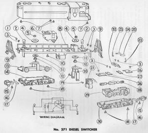 American Flyer Diesel Switcher 371 Parts List & Diagram | TrainDR