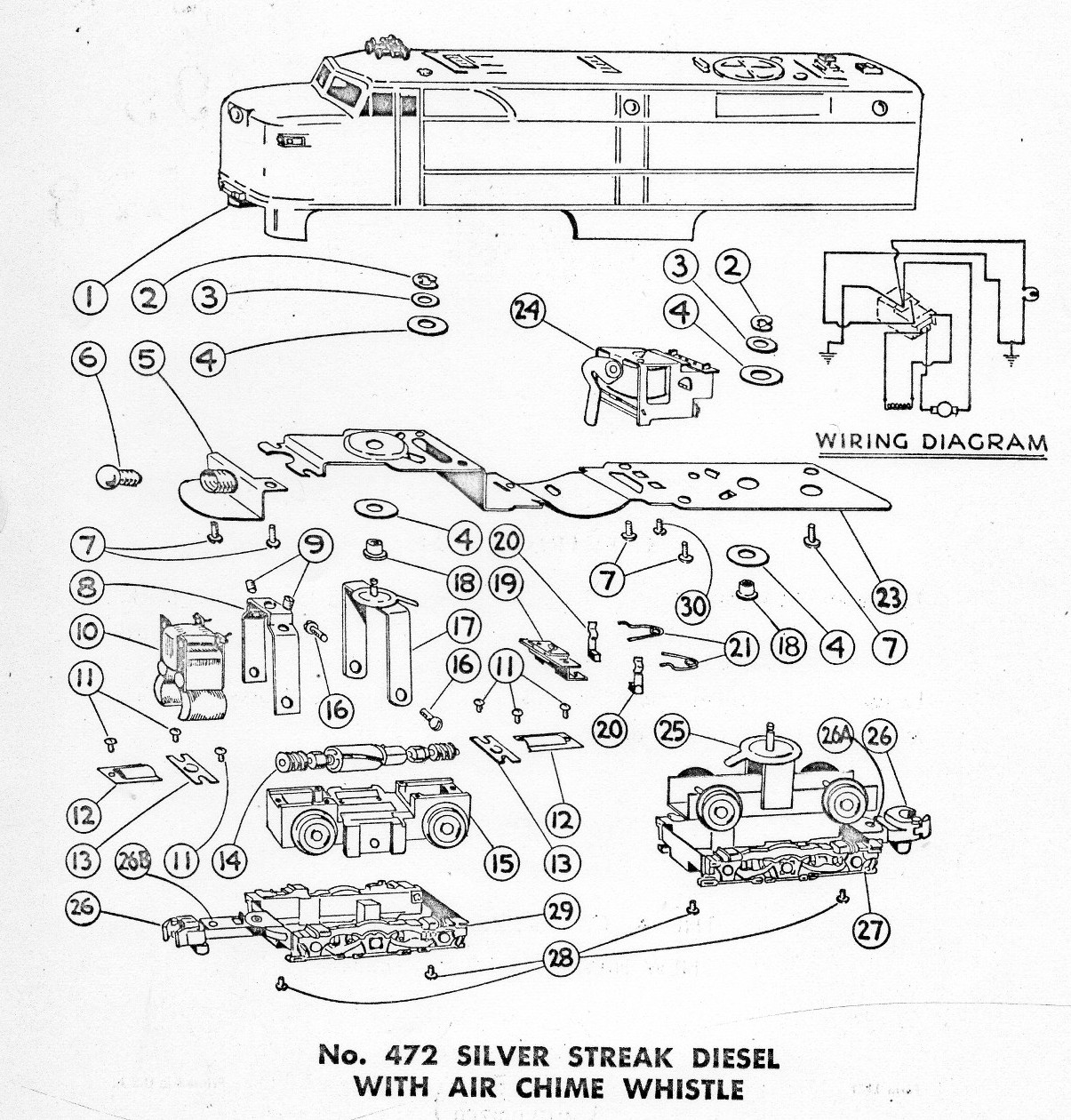 American Flyer Locomotive 472 Parts List Amp Diagram
