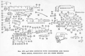American Flyer Lootive 325, 325AC & K325 Parts List & Diagram | TrainDR