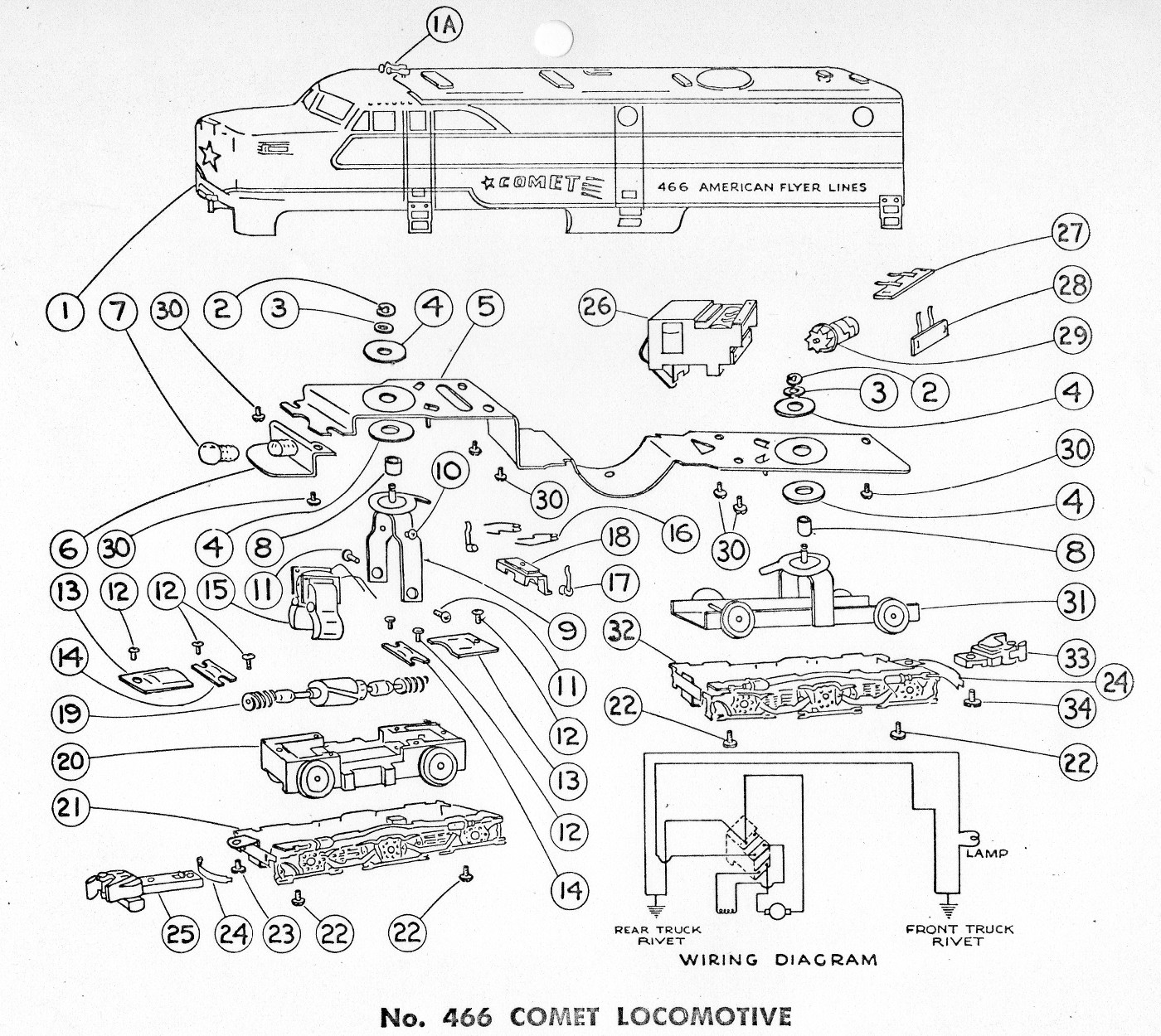 Steam Locomotive Schematic