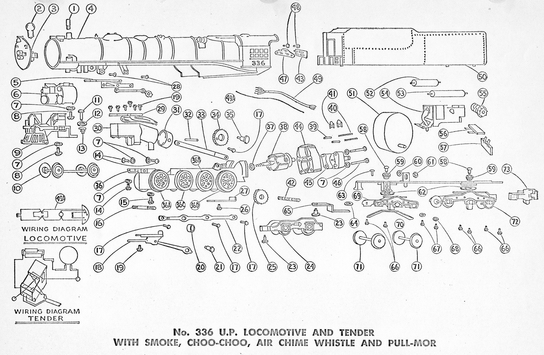 American Flyer Locomotive 336 Parts List Amp Diagram