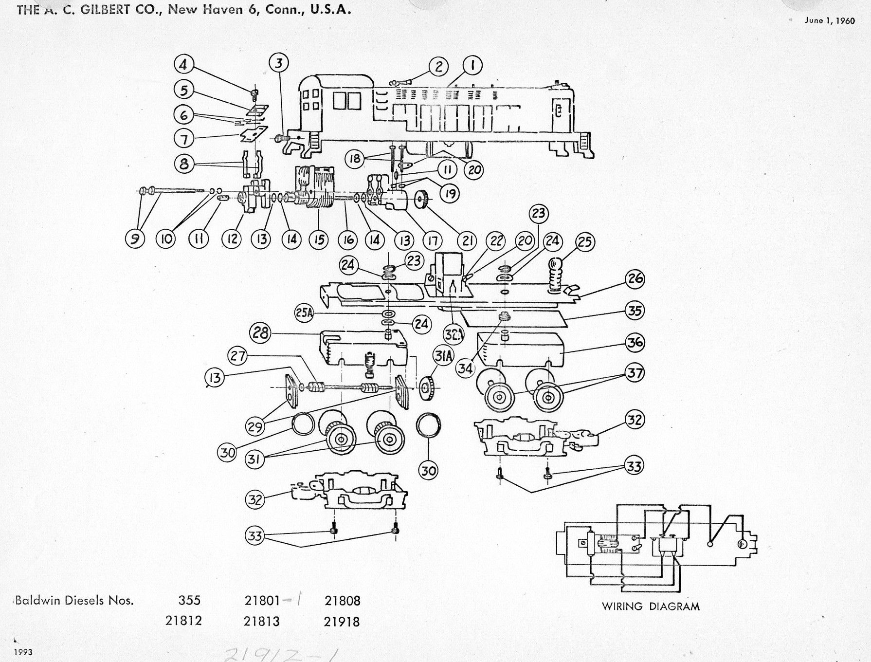 American Flyer Locomotive Baldwinsels Parts List Amp Diagram