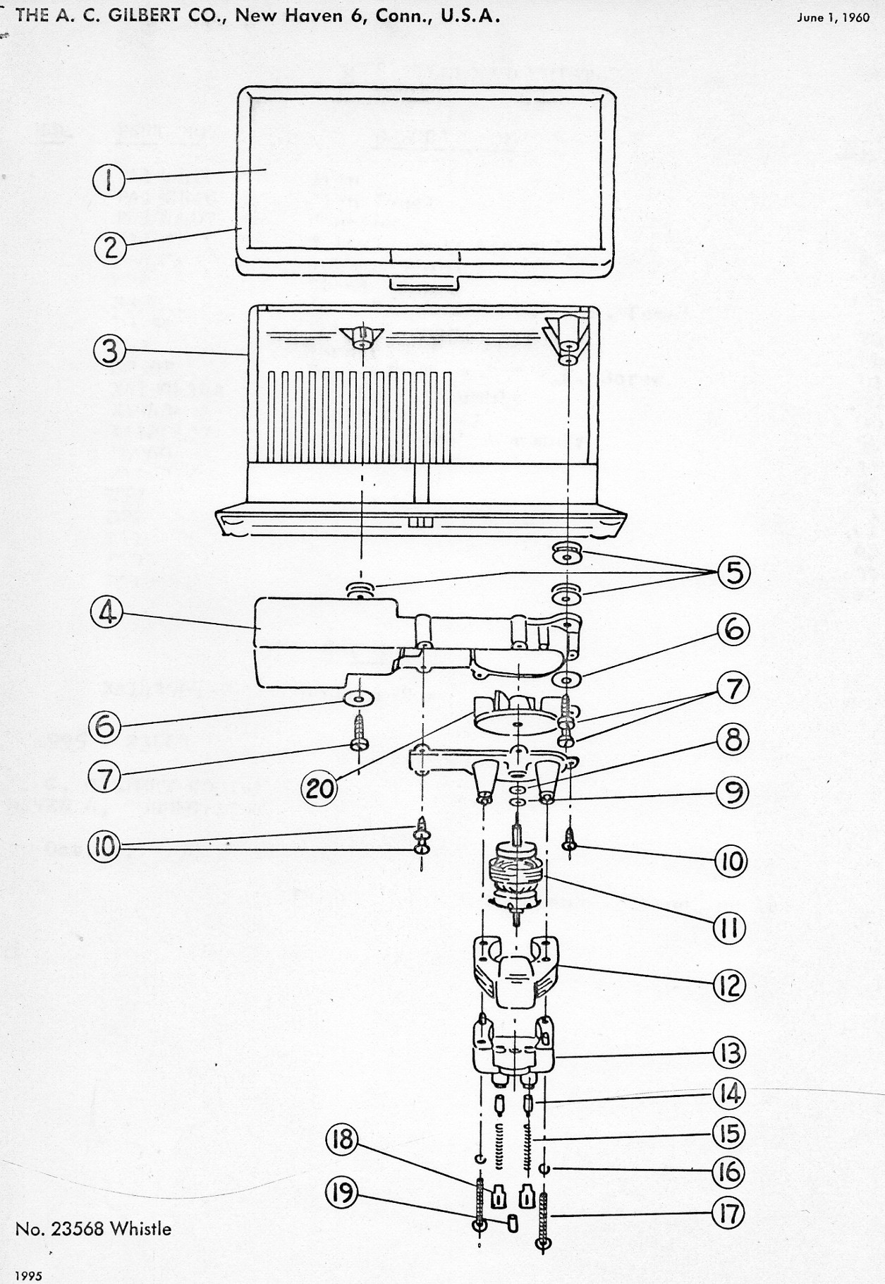 American Flyer Whistle 568 Parts List Amp Diagram