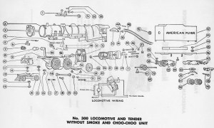 American Flyer Lootive 300 Parts List & Diagram | TrainDR