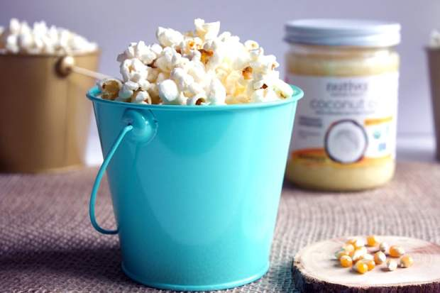 popcorn coconut oil