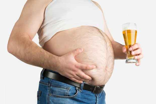 alcohol beer belly men