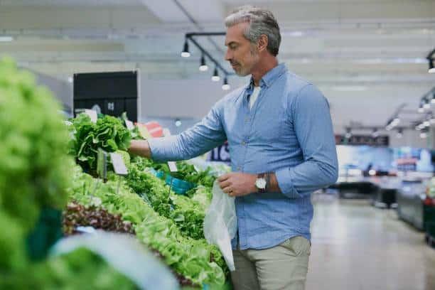mens diet green vegetables