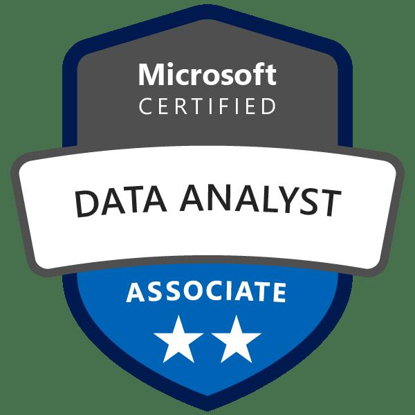 Badge Microsoft : Data Analyst Associate