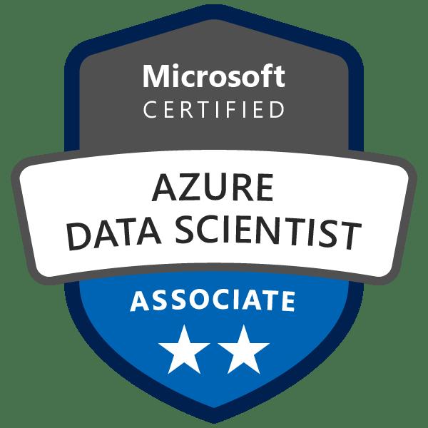 Badge Microsoft : Azure Data Scientist Associate