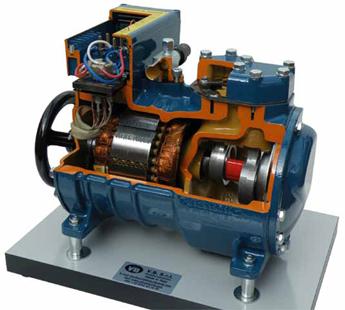 Semi Hermetic Compressor Cutaway