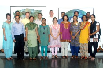 Even though my Indian colleagues' clothing is so much more colorful, my eyes still search for myself first in this photo before I look at anything else. It's similar for learners in a training session - they will ask: where am I and how does this training session apply to me?