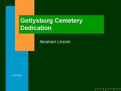 Not So Great PowerPoint Example 3 - Gettysburg Address