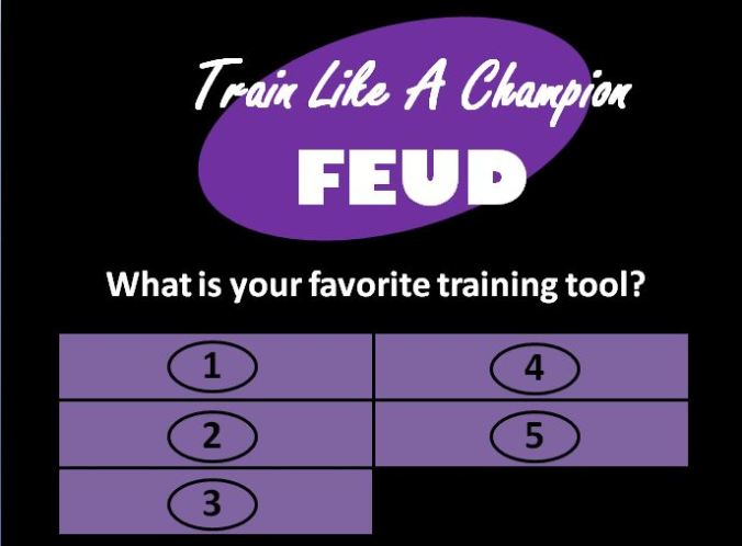 creating training games like family feud with powerpoint - train, Powerpoint templates
