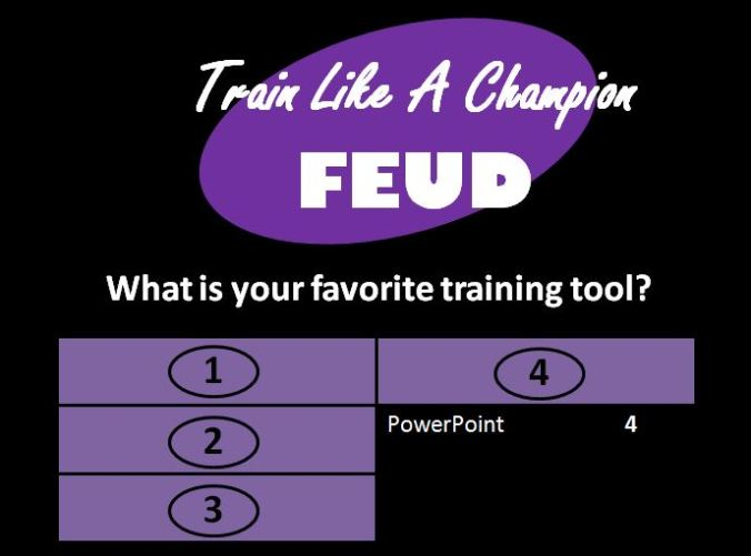 Family Feud with PowerPoint board answer revealed