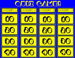 Jeopardy Game Board