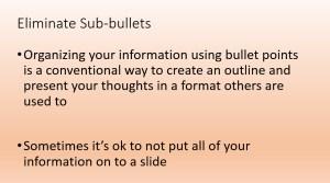 Sub-bullets 2