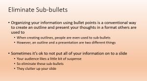 Sub-bullets