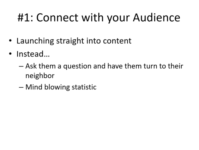 Original Slide in typical corporate PowerPoint template