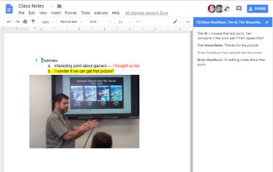 Sharing Google Doc