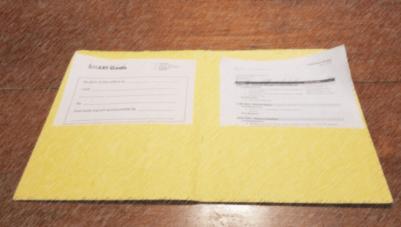 Handouts in a folder