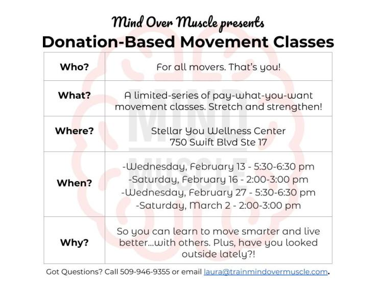 Mind Over Muscle Donation-Based Classes - February 2019 (1)