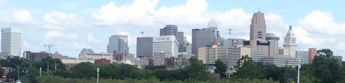A View of downtown CIncinnati  (Photo  B. Wing)
