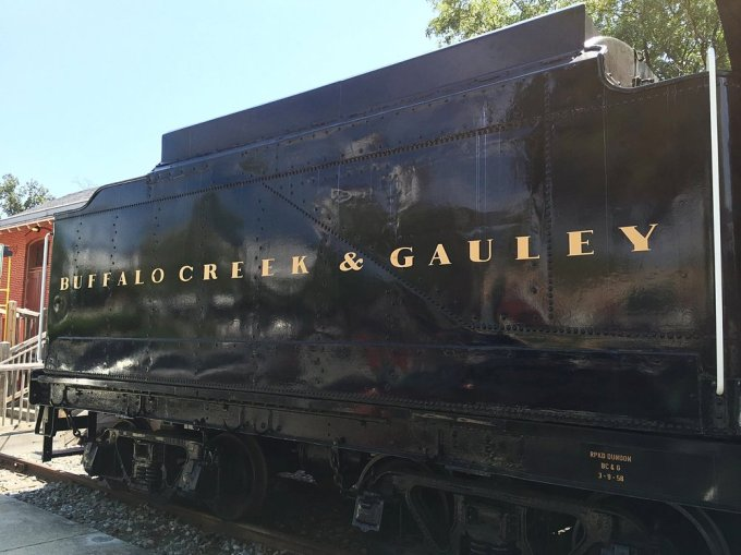 The tender showing the railroad's name.