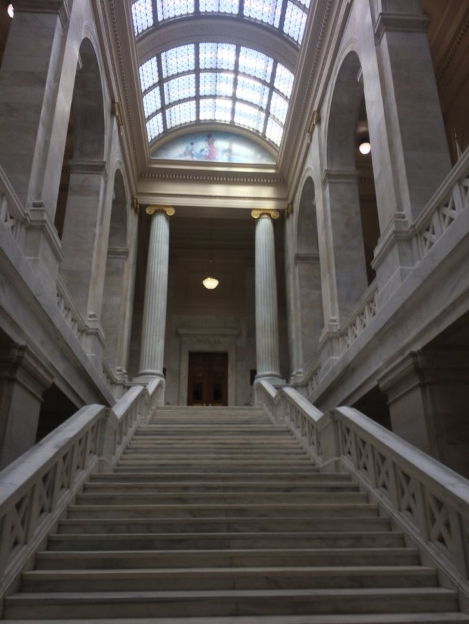 Inside the Capitol  Photo by B. Wing