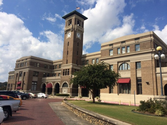 Union Station in Little Rock, Arkansas. Now an Office Building with a small AMTRAK area in the basement.  Photo by B. Wing
