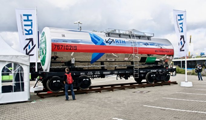 And then there was this Russian tank car designed to haul molten sulphur.
