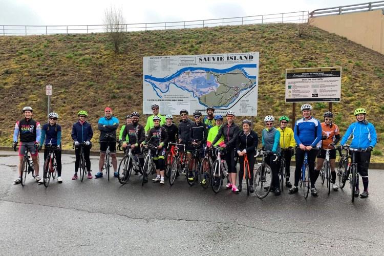 group ride triathlon