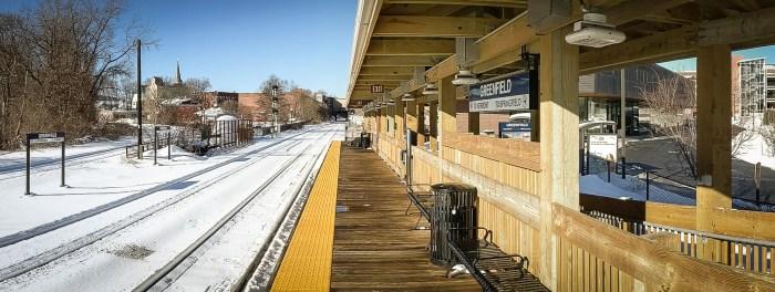 Greenfield train station in Decemeber 2020