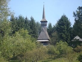 An imitation of a wooden church at the Village Museum