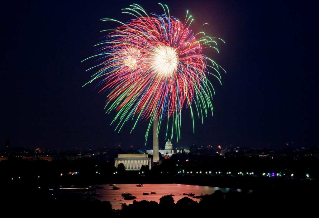 Fireworks over the Washington Monument