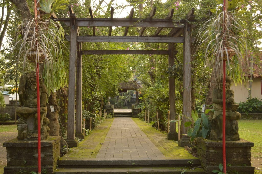 The beautiful gardens at the Agung Rai Museum
