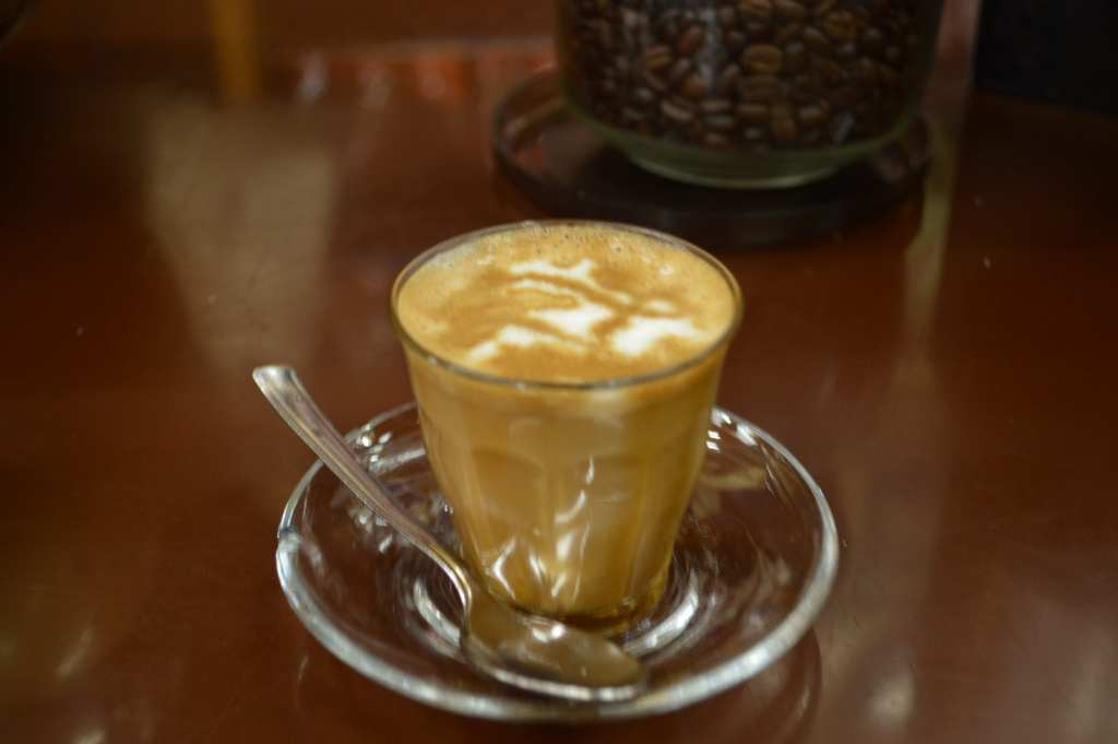 Really sad my photo came out out-of-focus, but the cappuccinos at Tomoca are perfect