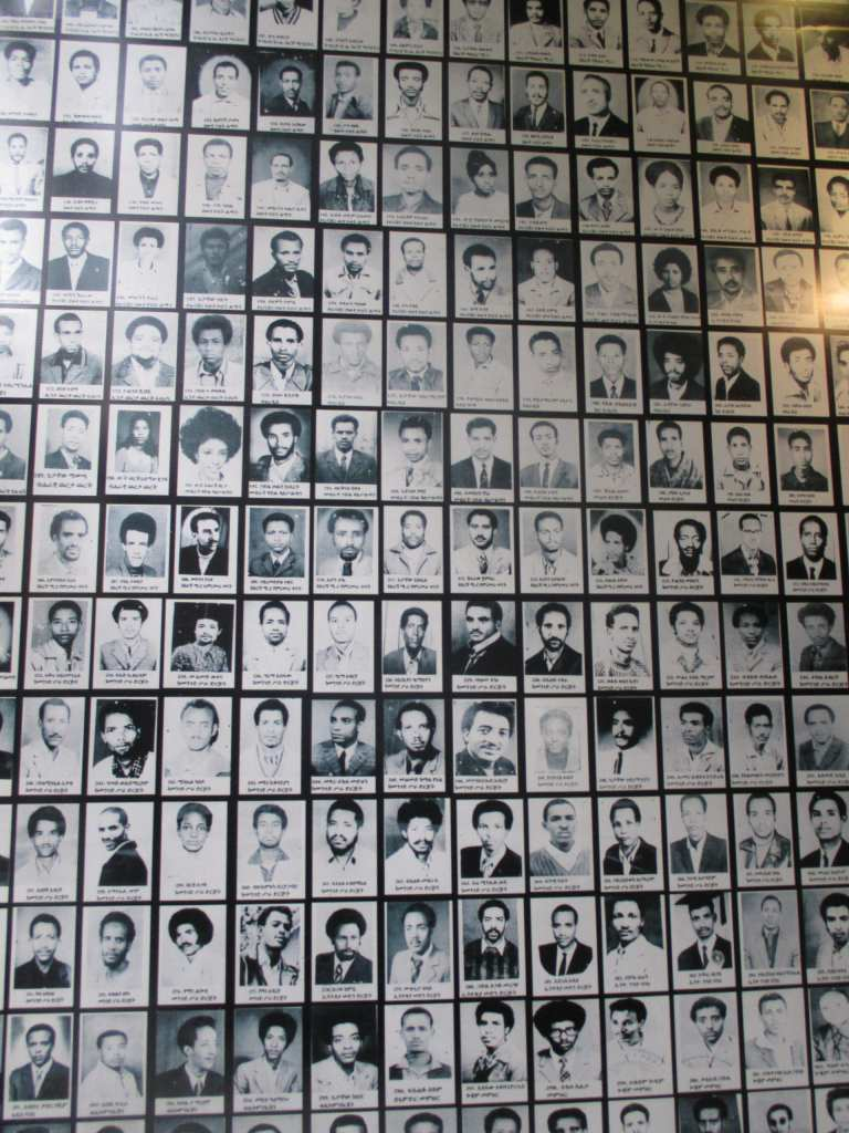 Wall of victims of the Derg regime