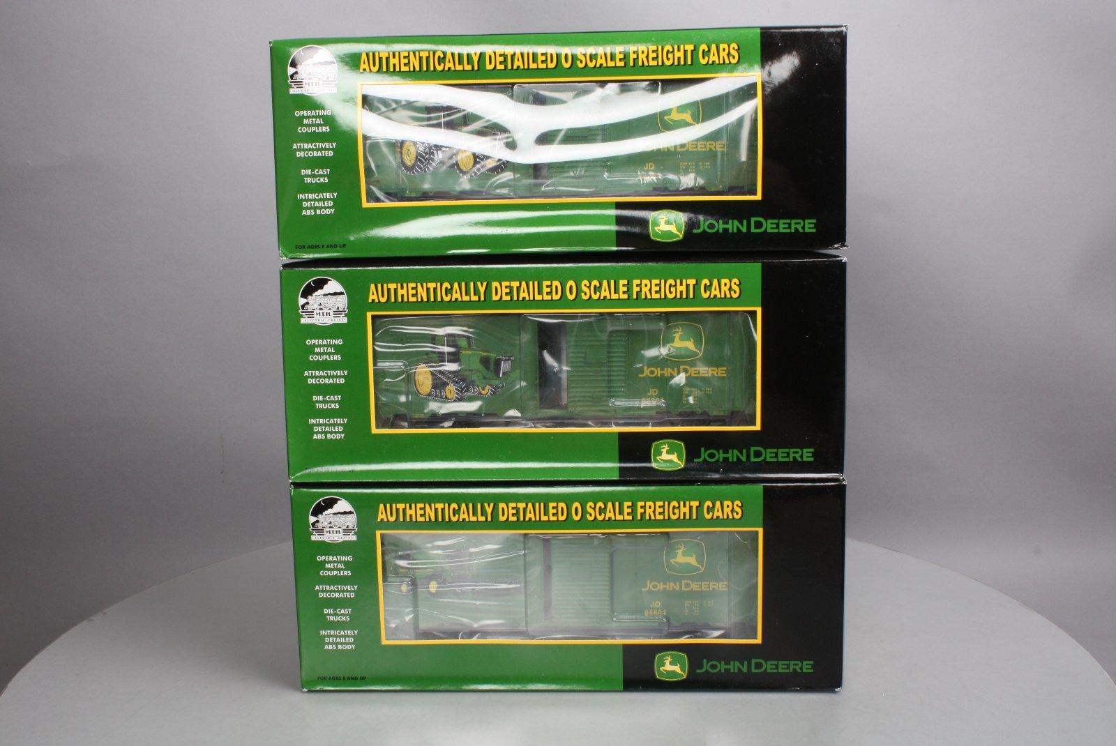 MTH 20-90169 John Deere 40' AAR Box Car Set LN/Box