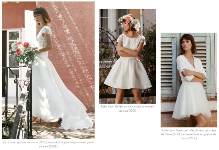 Robe de mariée made in France courte ou longue