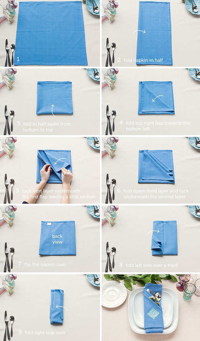 pliage serviette mariage chic