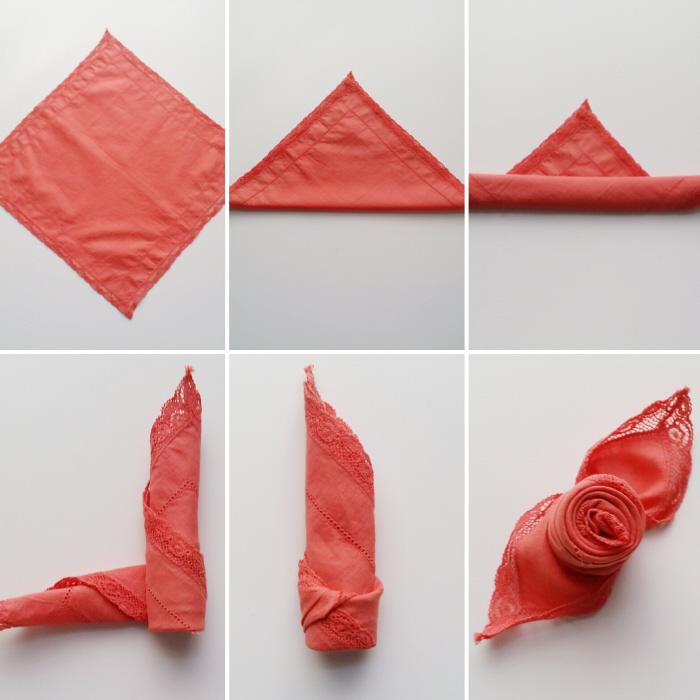 plier sa serviette à la verticale