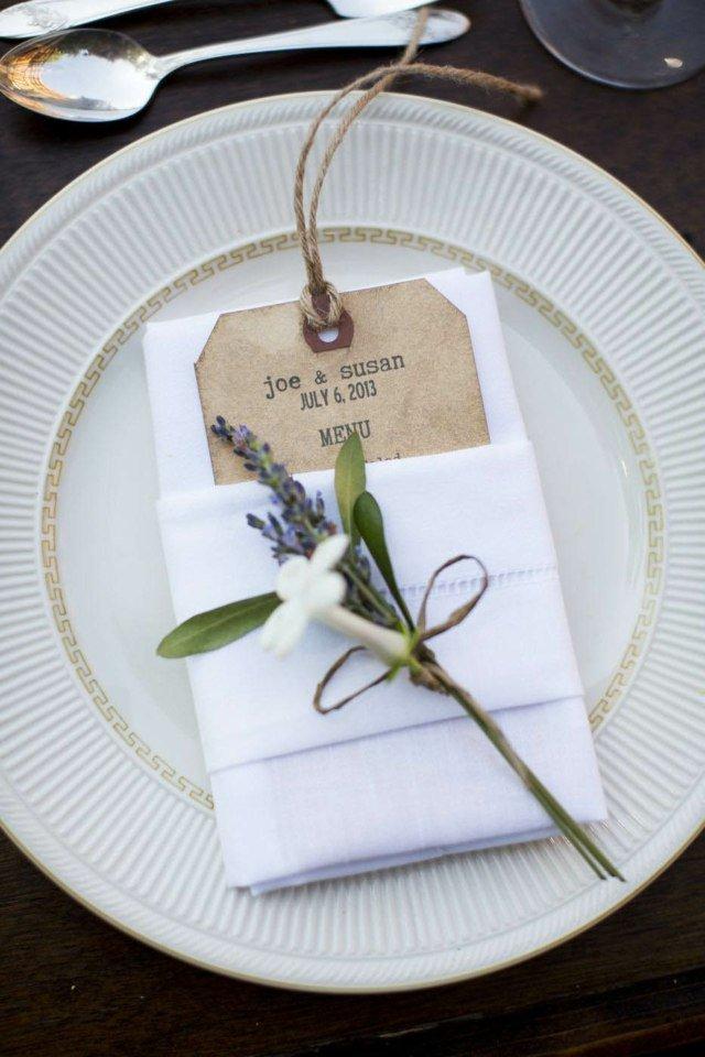 serviette pour table de mariage