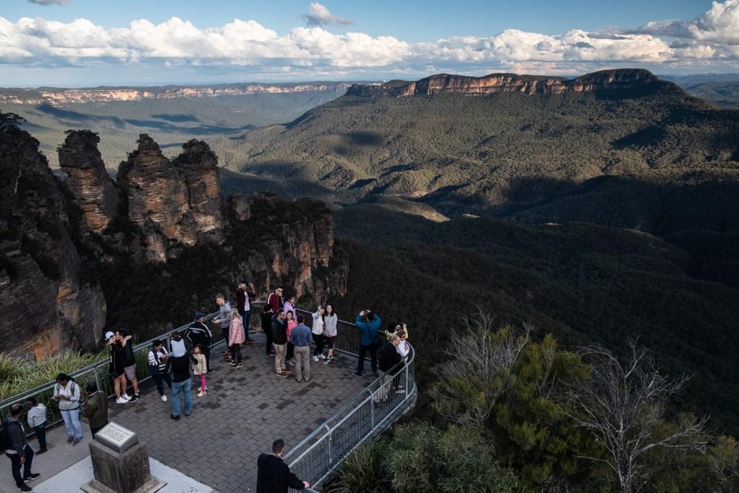 point de vue blue mountains parc australie pacifique