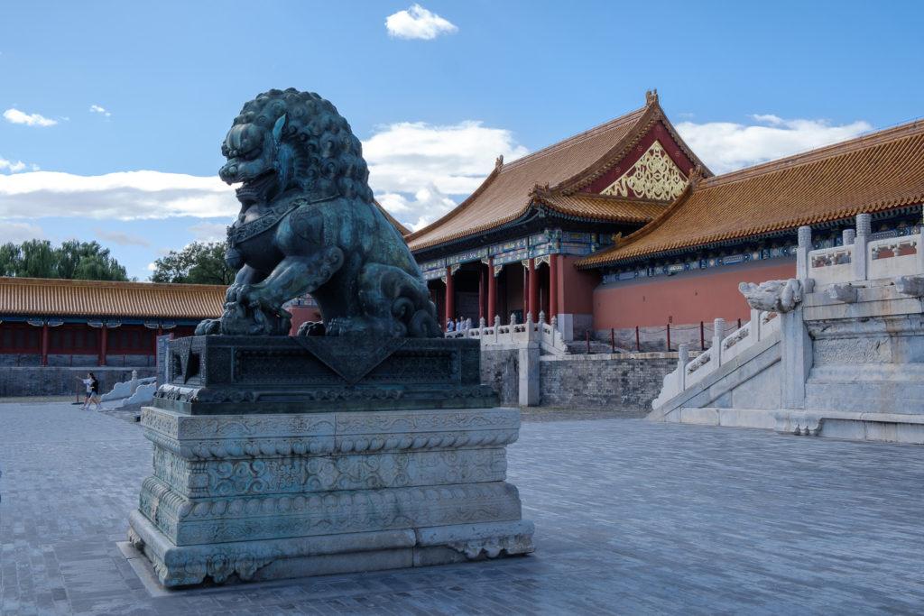 cité interdite détail statue pékin dragon