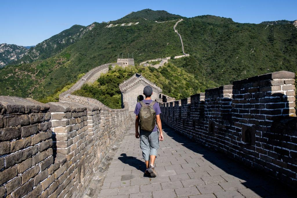 steven sur la grande muraille de chine