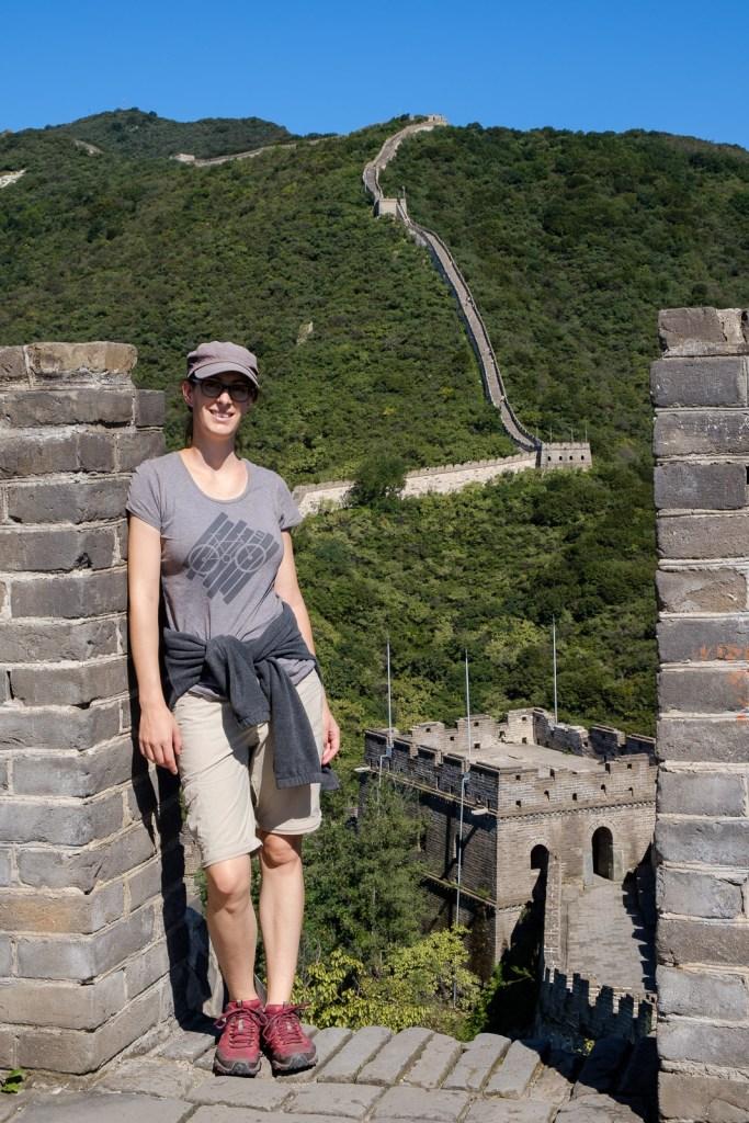 cindy sur la grande muraille de chine