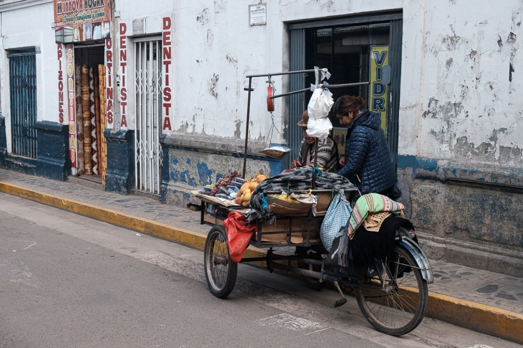 puno pérou vélo marchand
