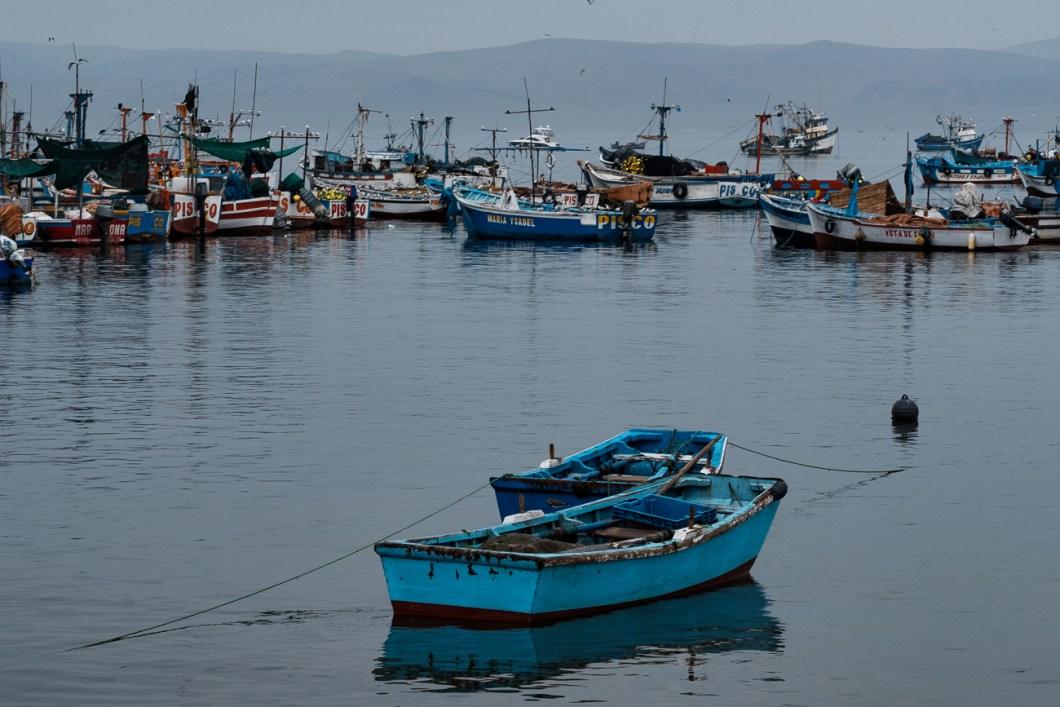 port paracas pérou bateaux